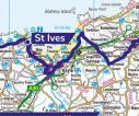 Detail route St Ives to Camborne